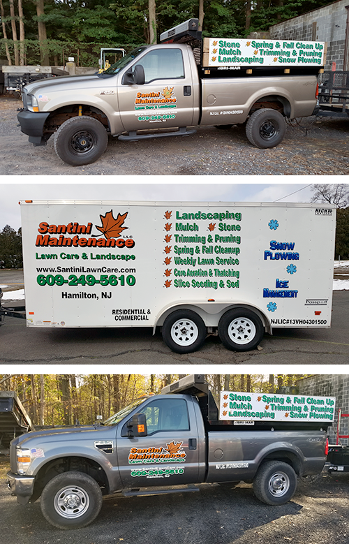 Santini Maintenance truck and trailer